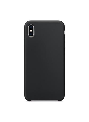 Bludfire Apple iPhone XS Max Kılıf Liquid Lansman Silikon Siyah Siyah